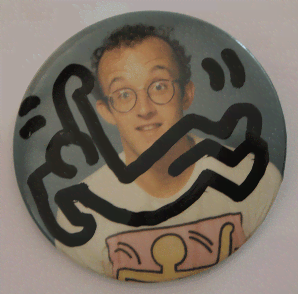 Badge, Keith Haring Pop Shop. Courtesy John Buckley.