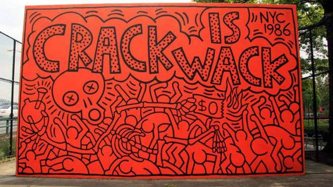 Keith Haring, Crack is Wack mural, New York City, 1986