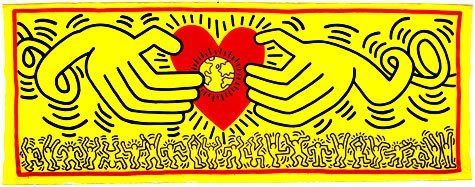 Keith Haring, Untitled, 1985, acrylic on canvas, 229 x 599 cm