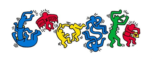 Keith Haring Google Doodle